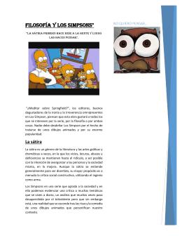 """Filosofía y los Simpsons"""""""