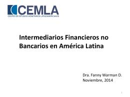 Intermediarios no bancarios en la estructura del sistema financiero