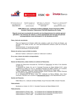 HSBC México S.A., Institución de Banca Múltiple, Grupo Financiero