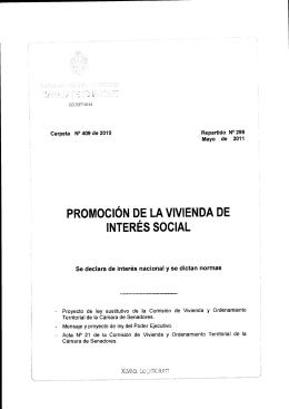 PROMOCiÓN DE LA VIVIENDA DE INTERÉS