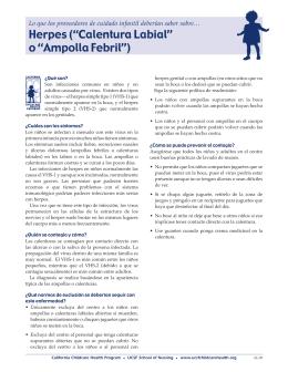 """Herpes (""""Calentura Labial"""" o """"Ampolla Febril"""")"""