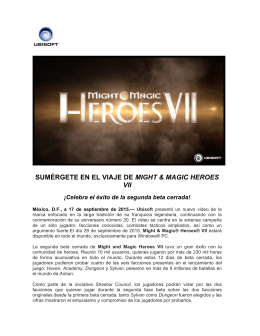 SUMÉRGETE EN EL VIAJE DE MIGHT & MAGIC HEROES VII