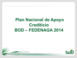 plan nacional de apoyo crediticio bod
