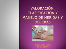 Valoración, clasificación y manejo de heridas y úlceras