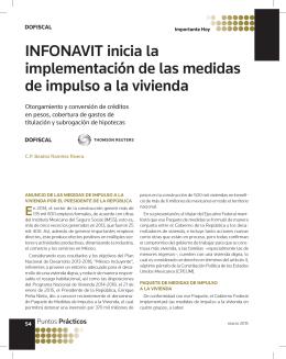INFONAVIT inicia la implementación de las medidas de