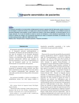 Transporte aeromédico de pacientes