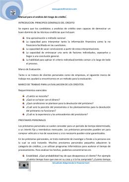 Manual para el análisis del riesgo de créditoi. INTRODUCION