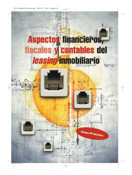 Aspectos financieros, fiscales y contables del leasing inmobiliario