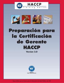 Preparación para la Certificación de Gerente HACCP Version 3.0