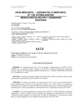 AUTO DECLARACION CONCURSO