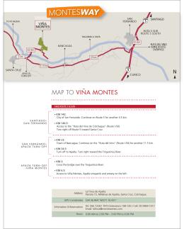 MAP TO VIÑA MONTES
