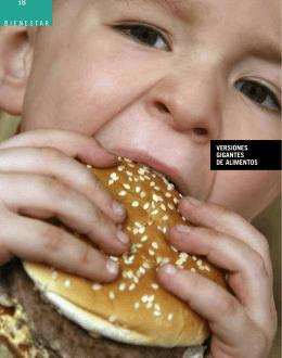 bienestar versiones gigantes de alimentos