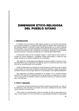 Dimensión ético religiosa del Pueblo gitano