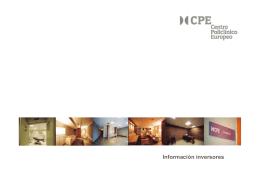 Información inversores - Centro Policlínico Europeo