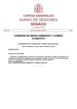Comisión de Medio Ambiente y Cambio Climático, nº 387