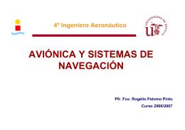 AVIÓNICA Y SISTEMAS DE NAVEGACIÓN