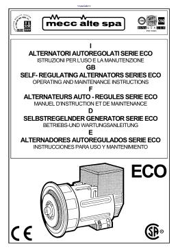 i alternatori autoregolati serie eco - Wolfgang Graf