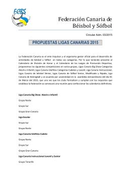 3 Circular Adm Nº 03 Propuestas Ligas Canarias 2015