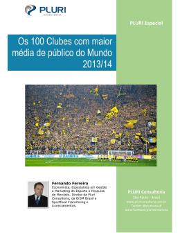Os 100 Clubes com maior média de público do
