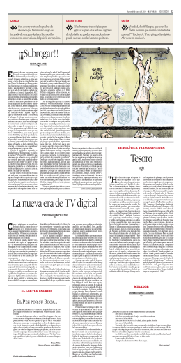 La nueva era de TV digital ¡¡¡Subrogar!!! Tesoro