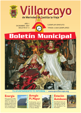 Boletin Villarcayo - Ayuntamiento de Villarcayo
