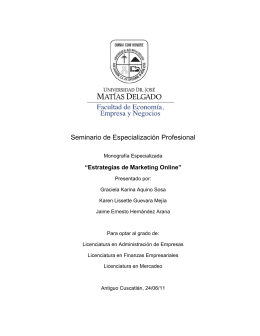 Seminario de Especialización Profesional