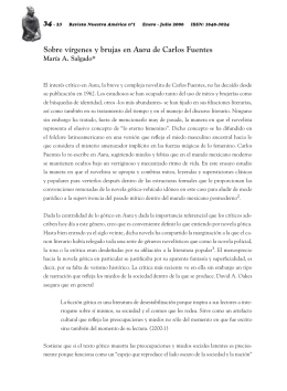 Sobre vírgenes y brujas en Aura de Carlos Fuentes