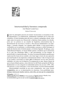 Intertextualidad y literatura comparada