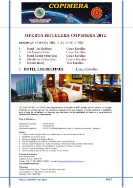 OFERTA HOTELERA COPIMERA 2012