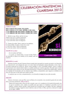 celebración penitencial cuaresma 2013