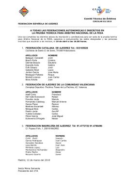 1. FEDERACIÓN CATALANA DE AJEDREZ Tél.: 933185926 2