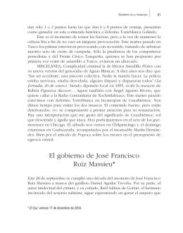 El gobierno de José Francisco Ruiz Massieu*