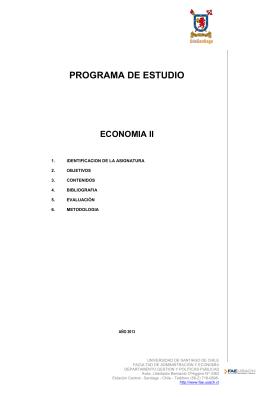 Economía II - Facultad de Administración y Economía