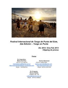 Festival Internacional de Tango de Punta del Este