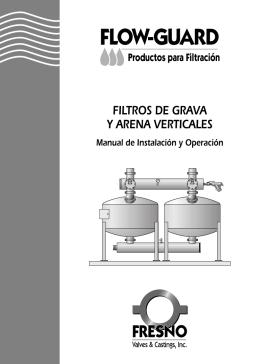filtros de grava y arena verticales