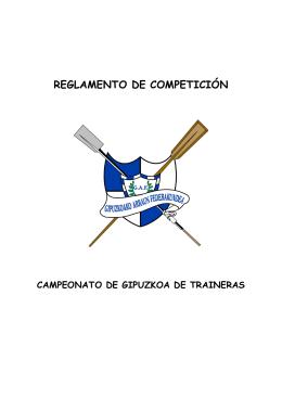 reglamento de competición - Federación Guipuzcoana de Remo
