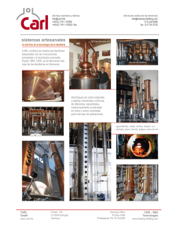 sistemas artesanales - CARL Artisan Distilleries and Brewing Systems