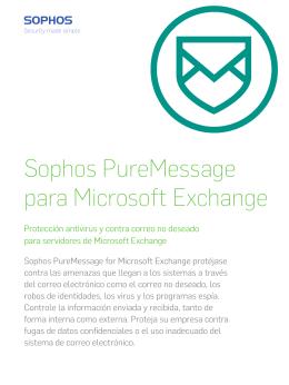 Sophos PureMessage para Microsoft Exchange