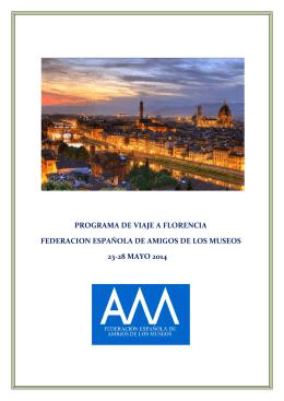 Programa de viaje a Florencia