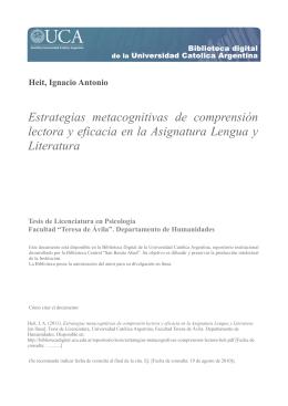 Estrategias metacognitivas de comprensión lectora y eficacia en la