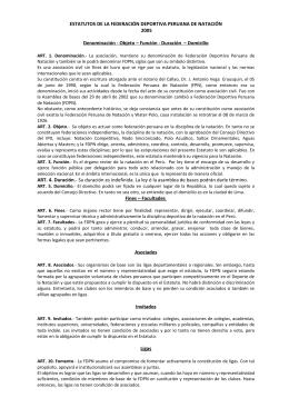 estatuto de la FDPN - Federación Deportiva Peruana de Natación