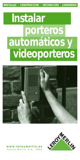 17 Instalacion de Porteros Electricos y Videopo