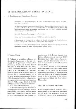 EL PECHIAZUL (LUSCINIA SVECICA) EN GALICIA