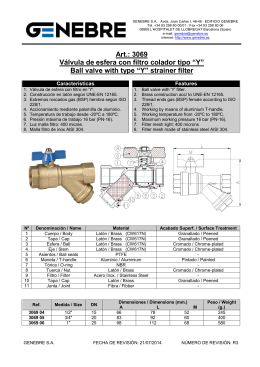 "Ball valve with type ""Y"" strainer filter"