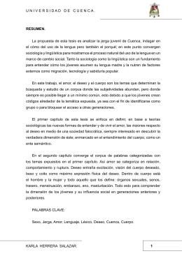 Karla Herrera Salazar. U niver S idadde CU en C a . 1 Resumen. la