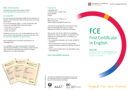 FCE Leaflet - Exámenes de Cambridge en Asturias