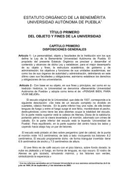 Estatuto Organico BUAP PDF
