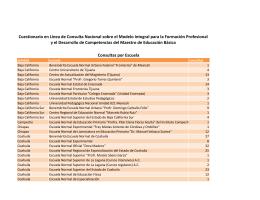 Consultas por Escuela Cuestionario en Línea de Consulta Nacional