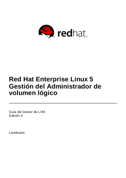 Red Hat Enterprise Linux 5 Gestión del Administrador de volumen