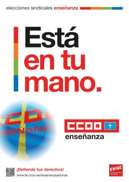 elecciones sindicales enseñanza - Federación de Enseñanza